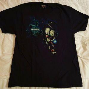 Harley Davidson T Shirt Rare Creepy Clown
